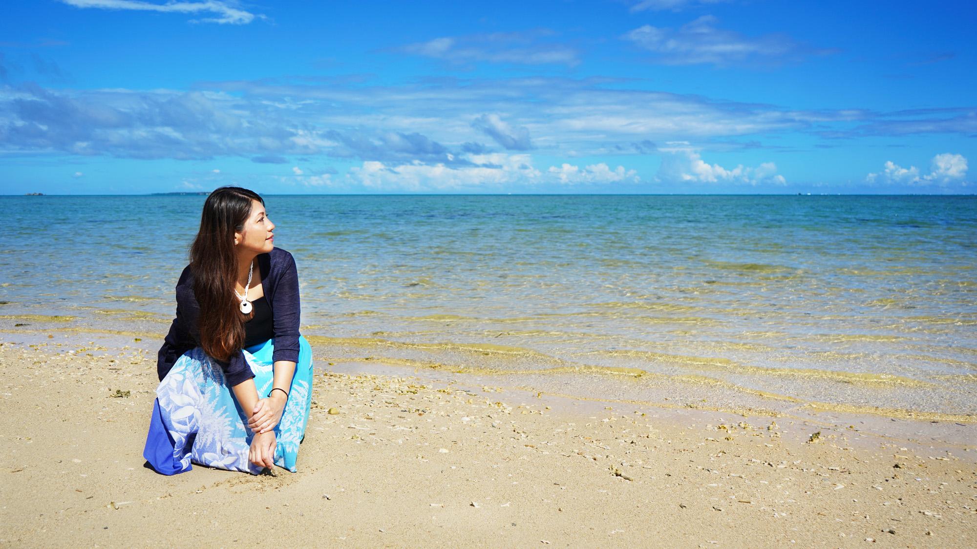 沖縄の写真 南城市撮影 model:tizuko