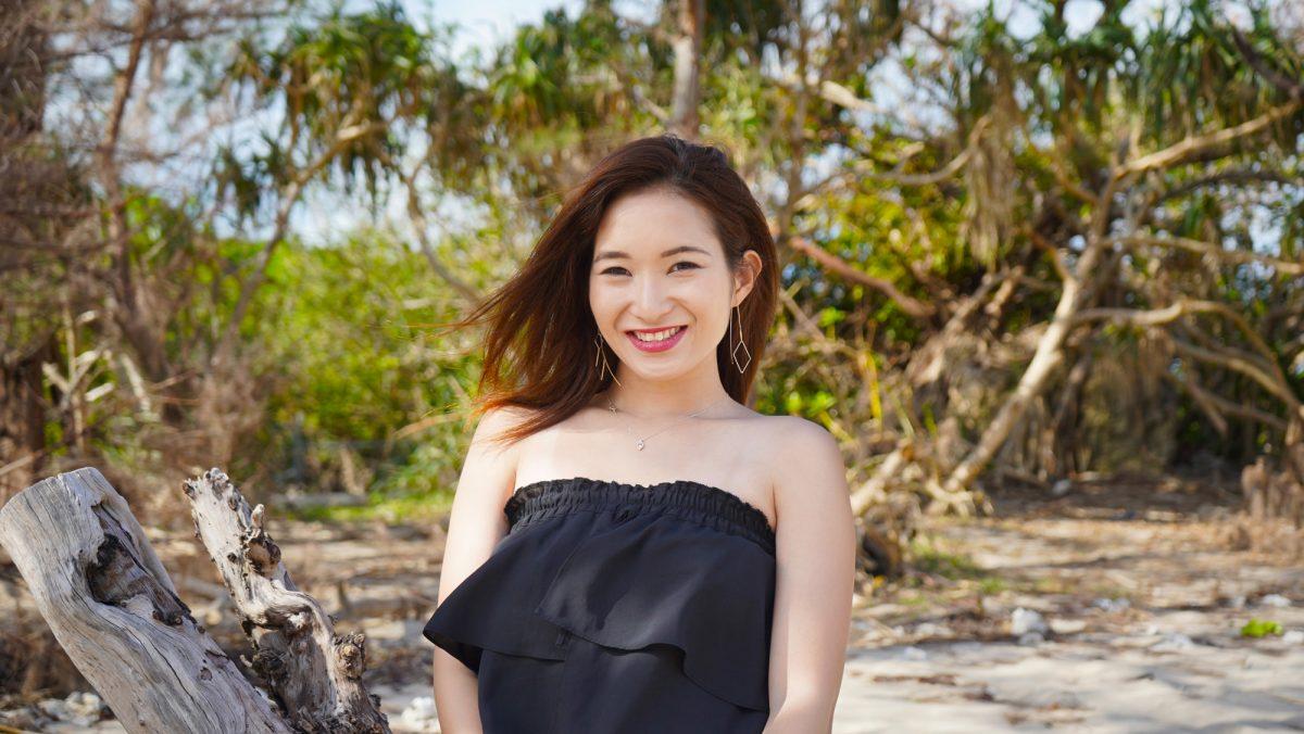 沖縄の写真 浜比嘉島でのポートレート model:natsumi90