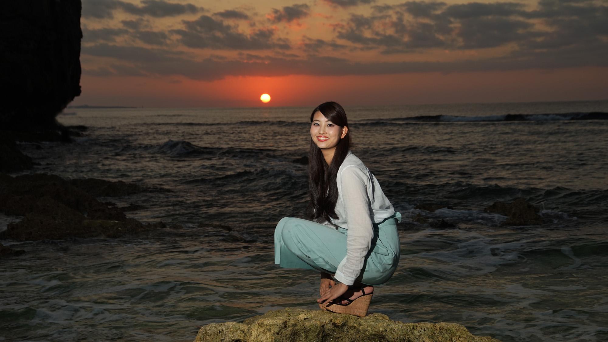 沖縄写真 okinawa夕日model:m310ri