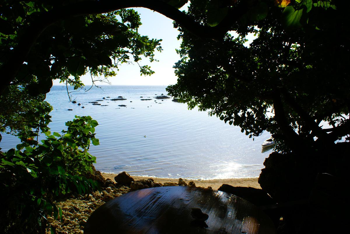 浜辺の茶屋のテラス
