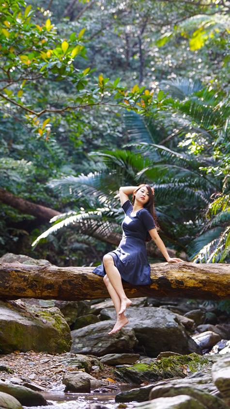 沖縄の自然の中で